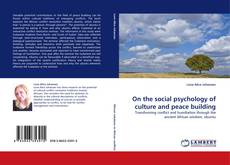 Buchcover von On the social psychology of culture and peace building