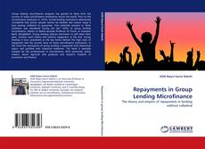 Buchcover von Repayments in Group Lending Microfinance