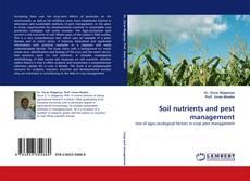 Обложка Soil nutrients and pest management