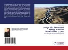 Portada del libro de Design of a Renewable Energy Powered Desalination System