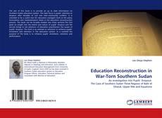 Capa do livro de Education Reconstruction in War-Torn Southern Sudan