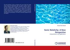 Bookcover of Sonic Relativity: A New Perspective