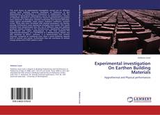 Copertina di Experimental investigation On Earthen Building Materials