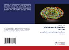 Capa do livro de Evaluation antioxidant activity
