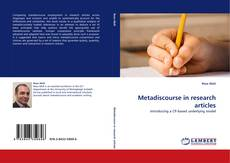Metadiscourse in research articles的封面