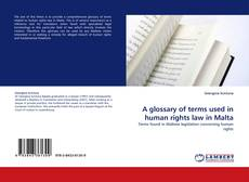 Buchcover von A glossary of terms used in human rights law in Malta