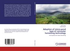Couverture de Adoption of micro-pond type of rainwater harvesting technology