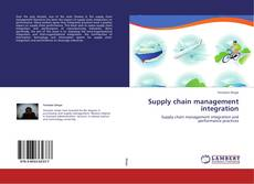 Bookcover of Supply chain management integration