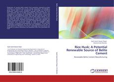 Bookcover of Rice Husk; A Potential Renewable Source of Belite Cement