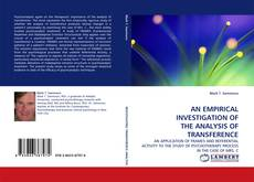 Copertina di AN EMPIRICAL INVESTIGATION OF THE ANALYSIS OF TRANSFERENCE