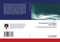 Bookcover of Privatization of Higher Education