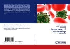 Capa do livro de Advancement of Biotechnology