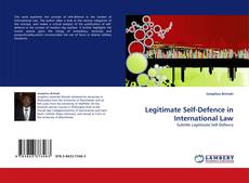 Buchcover von Legitimate Self-Defence in International Law