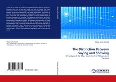 Buchcover von The Distinction Between Saying and Showing