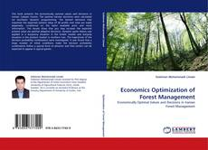 Bookcover of Economics Optimization of Forest Management