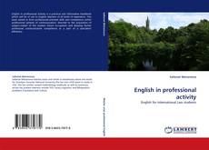 Bookcover of English in professional activity