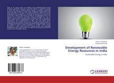 Bookcover of Development of  Renewable  Energy Resources in India