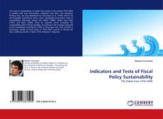 Indicators and Tests of Fiscal Policy Sustainability kitap kapağı