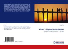 Bookcover of China - Myanmar Relations