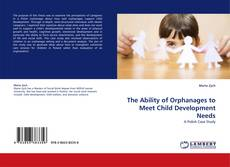 Обложка The Ability of Orphanages to Meet Child Development Needs