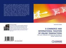 Capa do livro de E-COMMERCE AND INTERNATIONAL TAXATION OF ONLINE TRANSACTIONS