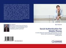 Social Authentication for Mobile Phones kitap kapağı