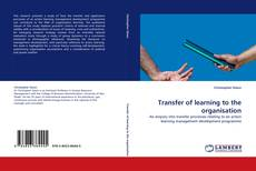 Transfer of learning to the organisation kitap kapağı