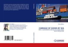 Buchcover von CARRIAGE OF GOODS BY SEA