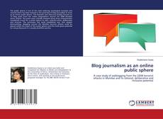 Buchcover von Blog journalism as an online public sphere