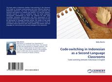 Code-switching in Indonesian as a Second Language Classrooms kitap kapağı