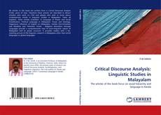 Buchcover von Critical Discourse Analysis: Linguistic Studies in Malayalam