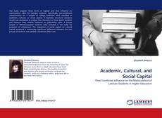 Portada del libro de Academic, Cultural, and Social Capital