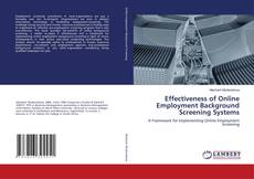 Bookcover of Effectiveness of Online Employment Background Screening Systems