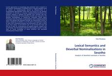 Lexical Semantics and Deverbal Nominalisations in Sesotho kitap kapağı