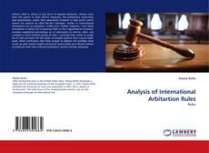 Обложка Analysis of International Arbitartion Rules