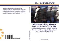 Buchcover von Afghanistan-Krieg. Was u.a. Gerhard Schröder dazu sagt