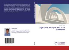 Bookcover of Signature Analysis and Trait Prediction