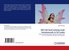 Bookcover of HIV risk level among male homosexuals in Sri Lanka