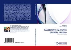 Bookcover of PANCHAYATS IN JUSTICE DELIVERY IN INDIA