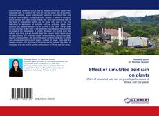 Bookcover of Effect of simulated acid rain on plants