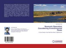 Bookcover of Reservoir Operation Considering Environmental Flows