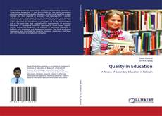 Couverture de Quality in Education