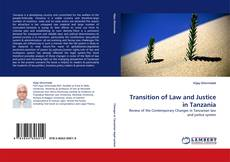 Transition of Law and Justice in Tanzania kitap kapağı