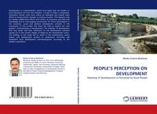 Buchcover von PEOPLE'S PERCEPTION ON DEVELOPMENT