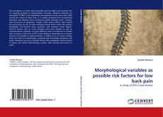 Обложка Morphological variables as possible risk factors for low back pain