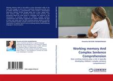 Buchcover von Working memory And Complex Sentence Comprehension