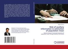 Bookcover of Role of auxiliary information in estimation of population mean