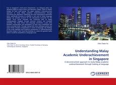 Portada del libro de Understanding Malay Academic Underachievement in Singapore