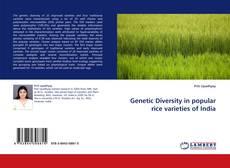 Buchcover von Genetic Diversity in popular rice varieties of India