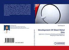 Capa do livro de Development Of Sheet Metal Dies